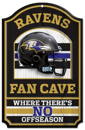 Baltimore Ravens Decorations - NFL Wood Sign Team: Baltimore Ravens