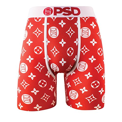 d13e77fbd PSD Men's Kyrie Irving Signature Line, The Pattern Athletic Boxer Brief,  Red, X