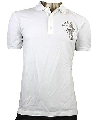 e8f7a1684a0b Gucci Embroidered White Cotton Slim Fit Horse Polo Shirt 338567 9000 (3XL)