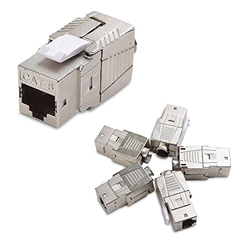 Cable Matters 5-Pack Shielded RJ45 Cat 8, Cat8 Keystone Jack