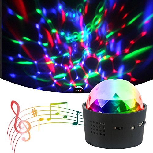 Disco Light, Mini DJ Balls Light LED RGB Sound Control USB Charge Portable Stage Decoration Lights for Party Home Car KTV Bar Stage Celebration,Halloween Christmas Gift for (Charge Halloween)