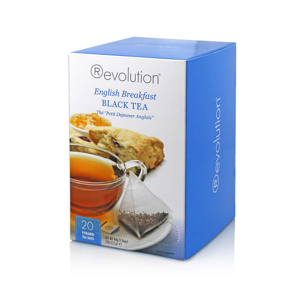 Revolution Tea Black Tea, English Breakfast, 20 Count (Pack of 6)