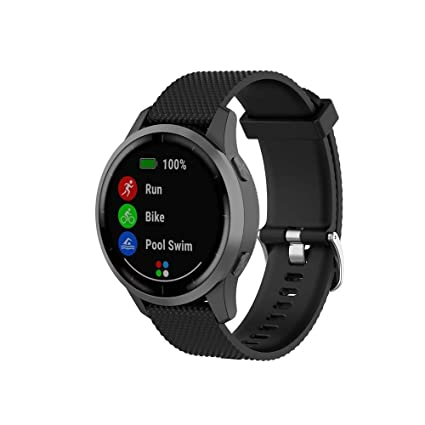 Klaas NIC 22mm Silicone Band for Samsung Galaxy Watch 46mm/Gear S3 Classic/Frontier,Quick Release Strap for Women Men Amazfit Pace/GTR 47MM/Huawei ...