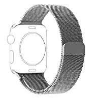 OROBAY Replacement Band for Apple Watch 42mm, Stainless Steel Mesh Loop Strap with Strong Magnetic Closure Clasp for Apple iWatch Sport & Edition (42mm Silver)