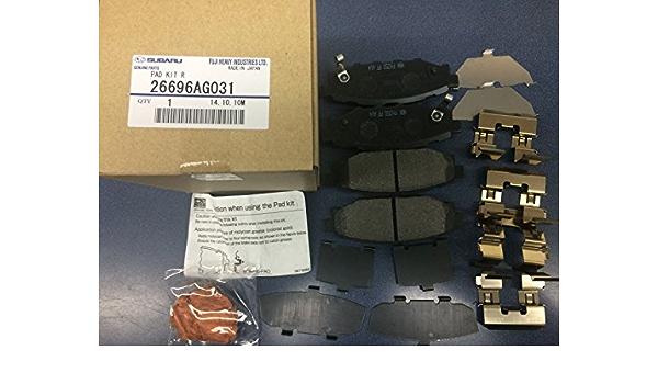 Rear Brake Pad Set R248KB for Legacy Forester Impreza Outback XV Crosstrek BRZ