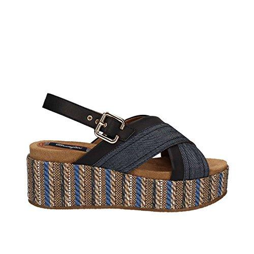 Wrangler WL171640 Sandalias Mujer Tessuto/pelle Sintetico Blanco blu - 100 BLUE