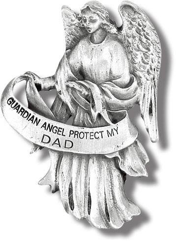 Visor Clip of Guardian Angel-Protect My (Dad Visor Clip)