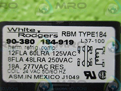 WHITE-RODGERS RBM TYPE:184 (L37-100) HEAVY DUTY ENCLOSED FAN RELAYNEW IN BOX - Rbm Type