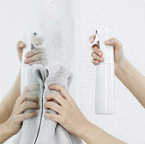 Vaporisateur (2 unités) rechargeable pour les cheveux, visage, coiffeur | Spray brumisateur à eau vide| Bouteille mist | 185 ml
