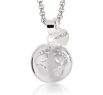 Harmony Ball M'AMI® pendant silver plated with steel chain and heart silver plated OcydZ