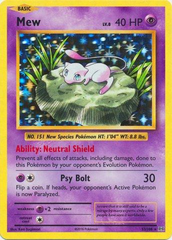 Pokemon - Mew (53/108) - XY Evolutions - Holo