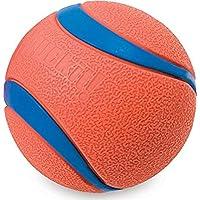¡Tíralo! Ultra Dog Ball rebota y flota naranja brillante y azul 5 tamaños disponibles
