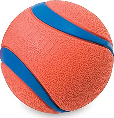 Chuckit! Ultra Dog Ball Bounces and Floats Bright Orange and Blue (Balls 60 Ball Pack)