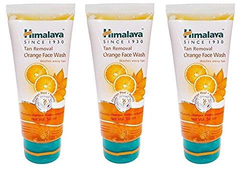 Himalaya Tan Removal Orange Face Wash, 50ml   Pack of 3