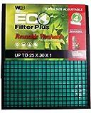 WEB Eco Plus Filter (Adjustable Washable, 25x30-Inch, 1pc),WP2530