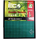 WEB Eco Plus Filter (Adjustable Washable, 25x30-Inch, 1pc),WP2530