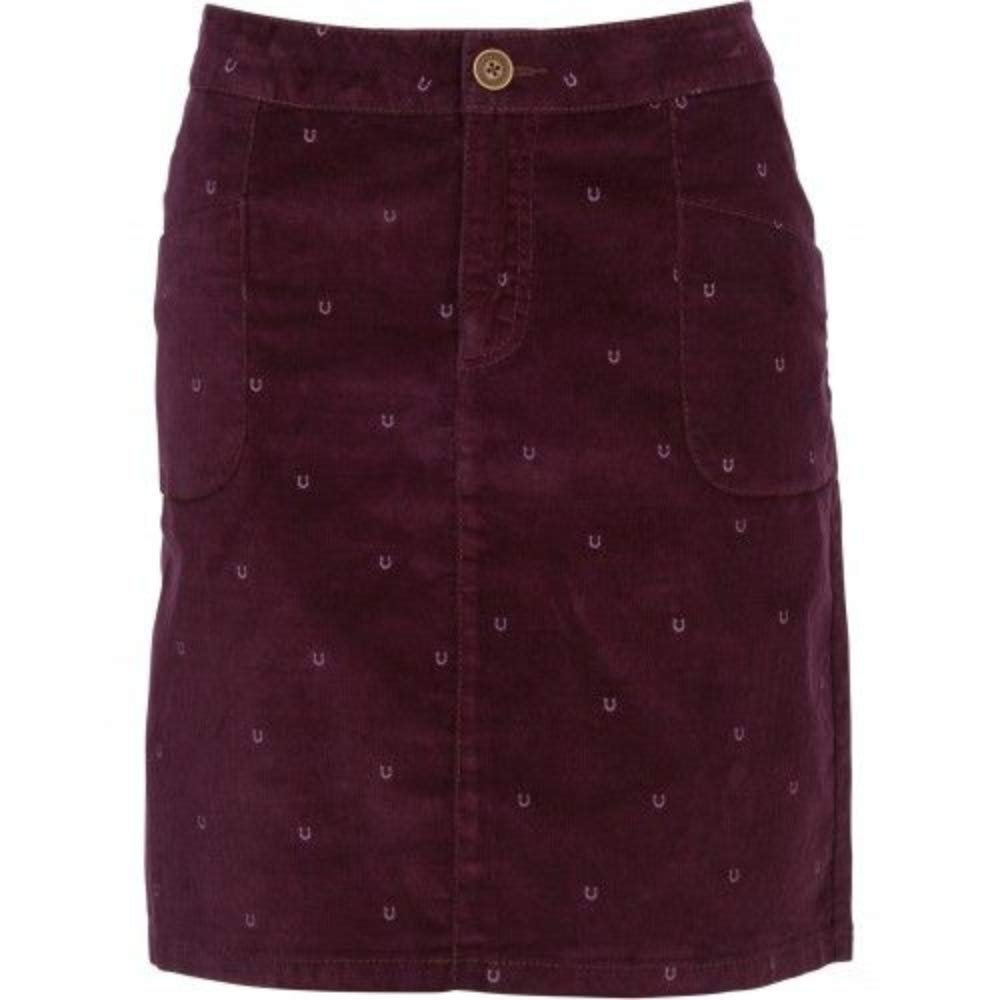 3aff2cc86af5 Brakeburn Womens Burgundy Skirt Horseshoe Print Soft Cord Fabric (8):  Amazon.co.uk: Clothing