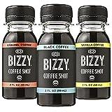 Bizzy Coffee Shot - Variety Pack: Black Caramel, Vanilla - 2fl.oz (Pack of 18)