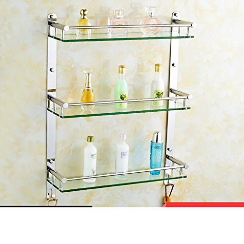 Bathroom glass shelf/Stainless steel Towel rack/shelf /the shelf in ...
