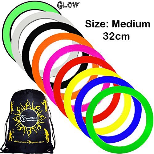 Mr Babache Pro Juggling Rings (Medium-32cm) + 1x Flames N Games Travel Bag per order. Top Quality Rings For Juggling Ideal For All Ages & Levels of Skill! *PRICE IS (Juggling Rings Set)