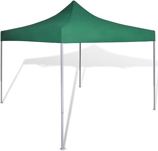 Festnight Carpa Plegable para Jardín Camping 3x3M Cenador Pabellón Plegable Color Verde: Amazon.es: Hogar