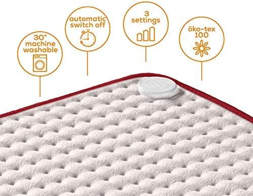 Beurer HK Comfort Almohadilla eléctrica térmica, transpirable ...