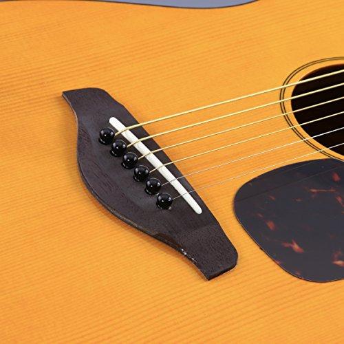 Yamaha JR1 FG Junior 3/4 Size Acoustic Guitar with Gig Bag and Legacy Accessory Bundle - Image 4