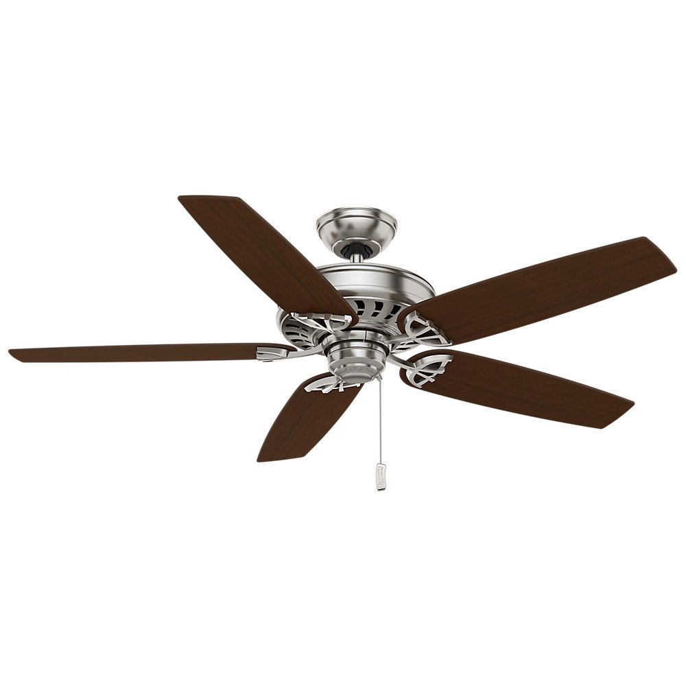 Casablanca 54023 Concentra Gallery 54-Inch 5-Blade Single Light Ceiling Fan, Brushed Nickel with Walnut/Burnt Walnut Blades and Cased White Glass Bowl Light by Casablanca (Image #5)