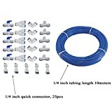 Malida RO systems water purifiers Pipe Fittings 1/4 inch tubing 32Ft 10meter,quick connector