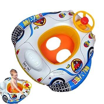 Niños bebé piscina inflable del asiento flotador barco Natación Ayuda: Amazon.es: Juguetes y juegos