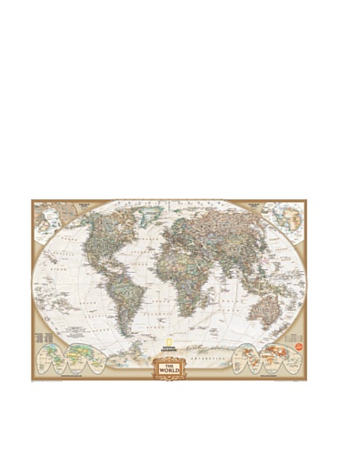 Cheap  Wall Pops WPE0668 WPE0668 Nat Geo World Map Executive Wall Decals