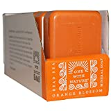 One With Nature Dead Sea Mineral Soap, Orange Blossom, 4 Oz (Pack of 6) For Sale