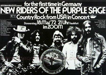 New Riders of the Purple Sage - Gypsy Cowboy 1972 - Concert Poster Plakat (New Riders Of The Purple Sage Gypsy Cowboy)