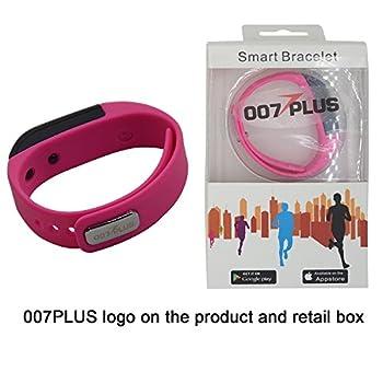 007plus T5 Smart Bracelet Bluetooth Fitness Tracker (Pink) 3