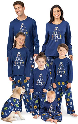 PajamaGram Star Wars Family Pajamas - Christmas Pajamas, Blue