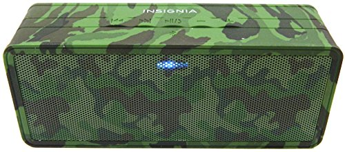 Insignia Portable Bluetooth Speaker (NS-SPBTBRICK-CM) Camo - New