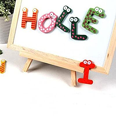 Kekailu Fridge Magnet,26 Alphabet Magnetic Letters A-Z Wooden Fridge Magnets Baby Kid Education Toys: Home & Kitchen