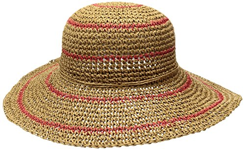 Columbia Women's Early Tide Straw Hat, Straw/Red Camellia, One Size