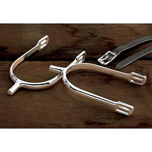 Prince of Wales Military Spurs with Straps - Silver