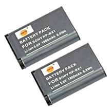 DSTE® 2x NP-BX1 Replacement Li-ion Battery for Sony DSC-HX300 HX90V RX100 II III IV WX300 WX500 HDR-GW66V GWP88 CX240 AS30V RX100IV DSC-RX1 RM2 Camera
