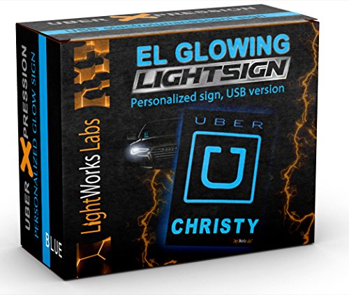 Personalized Uber Light Sign - Illuminated Glowing Trade-Dress Decals for Rideshare Drivers ()