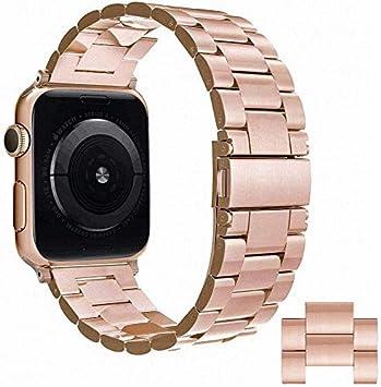 Simpeak Correa 42mm Compatible con Apple Watch Series 4/Series 3/Series 2/Series 1 Reemplazo de Banda con Metal Corchete Compatible con iWatch Todos ...