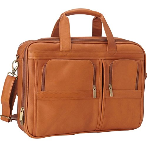 Le Donne Leather TR-300-B-TAN Executive Laptop Brief by Le Donne Leather