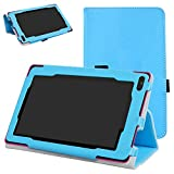 """RCA 7 VOYAGER II Case,Mama Mouth PU Leather Folio 2-folding Stand Cover with Stylus Holder for 7"""" RCA 7 VOYAGER II RCT6773W22 2015 Model Tablet,Light Blue"""
