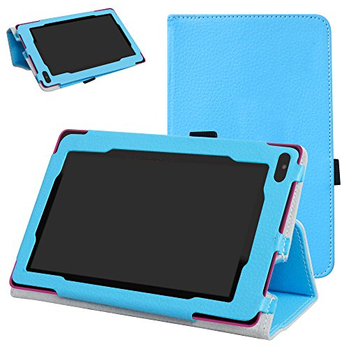 RCA 7 VOYAGER II Case,Mama Mouth PU Leather Folio 2-folding Stand Cover with Stylus Holder for 7
