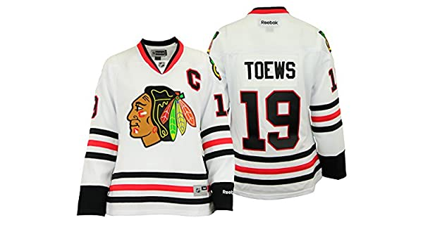 Chicago Blackhawks Jonathan Toews #19 White Premier Stitched Jersey