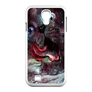 Galaxy Hipster Cat Unique Design Cover Case for SamSung Galaxy S4 I9500,custom case cover ygtg550281 WANGJING JINDA