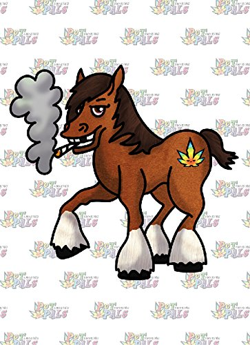 Rectangle Refrigerator Magnet - Pot Smoking Pals (Horse Rectangle Magnet)