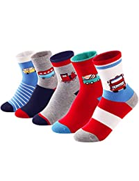 SUNBVE Baby Toddler Little Boys Fashion Cotton Crew Socks