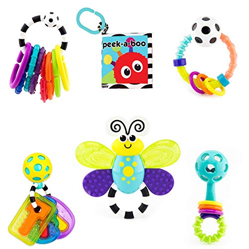 Sassy Filled Water Teethers (Baby's 1st Sassy Developmental Toys 6 Pc. Gift Set)